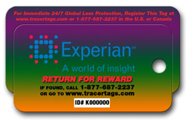 Lost and Found Key Tag with Retrieval Service